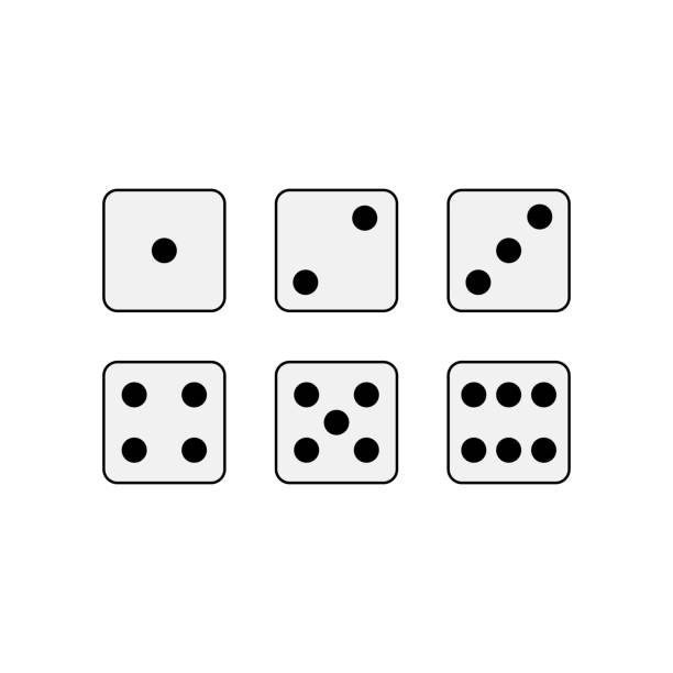 game dice. vector - dice stock illustrations, clip art, cartoons, & icons
