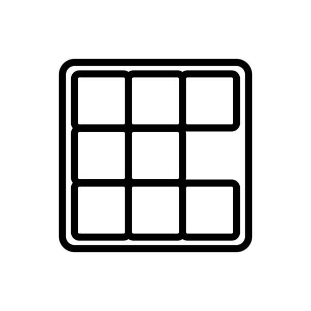 game dices icon vector outline illustration game dices icon vector. game dices sign. isolated contour symbol illustration backgammon stock illustrations