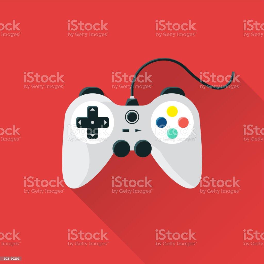 Game Flat Icon vector art illustration
