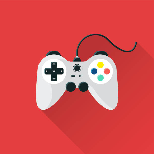 Game Flat Icon Game Flat Icon game controller stock illustrations