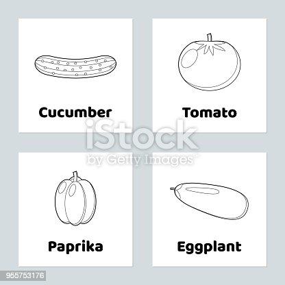Coloriage Paprika Dessin Anime.Jeu Pour Les Enfants Legume Jeu De Coloriage Tomate Concombre