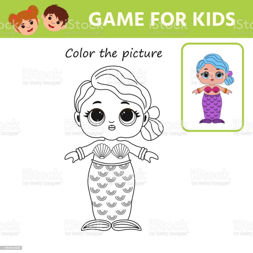 Game For Kids Coloring Book For Children Cute Lol Doll Stock Illustration    Download Image Now