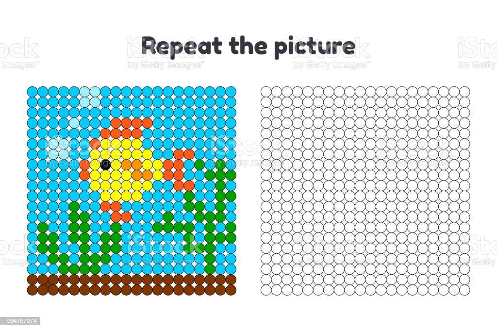 Spiel Für Kinder Im Vorschulalter Wiederholen Sie Das Bild Malen Sie ...