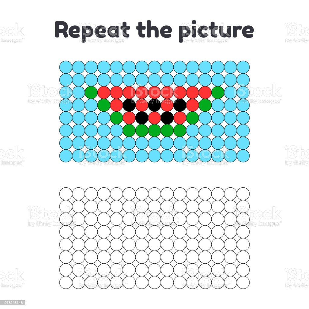 Game For Preschool Children Repeat The Picture Paint The Circles ...