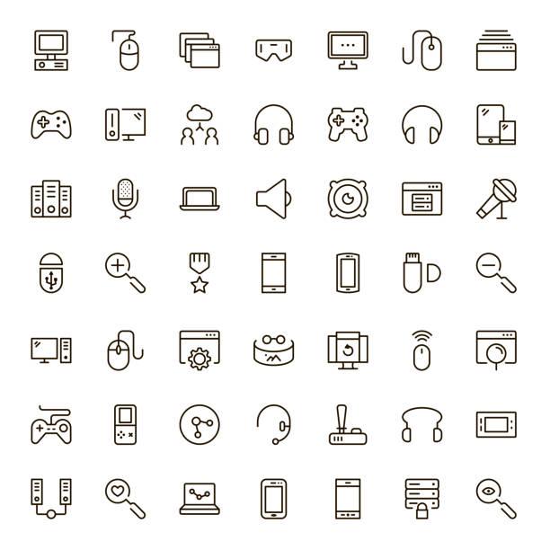game icon set - hobby stock illustrations