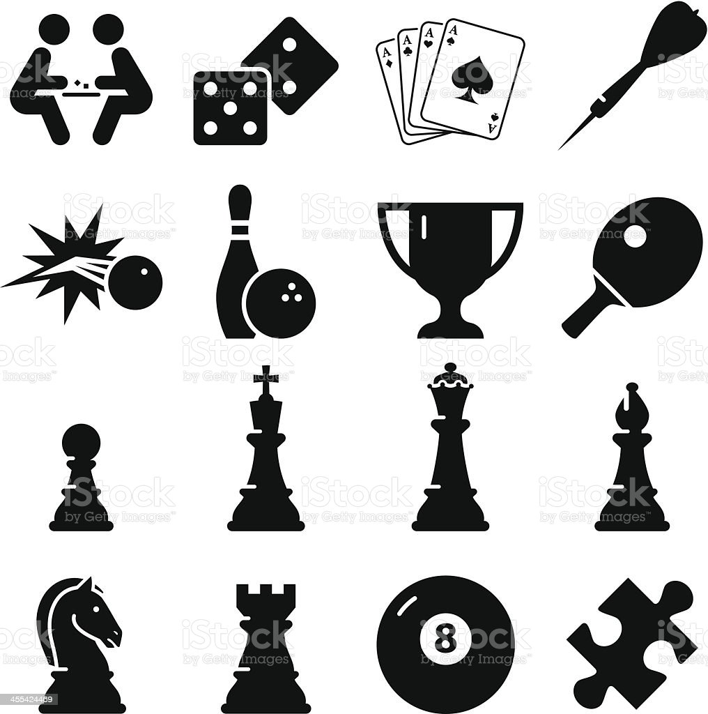 Game Icons - Black Series vector art illustration