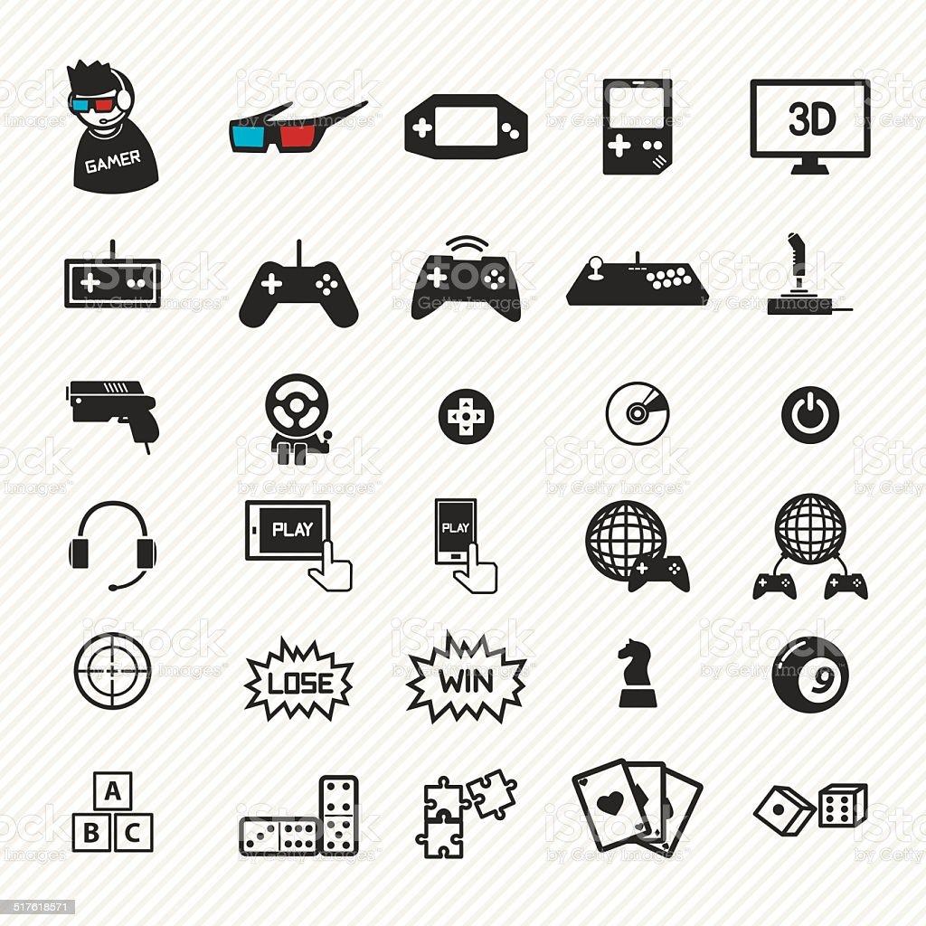game icons set. illustration eps10 vector art illustration