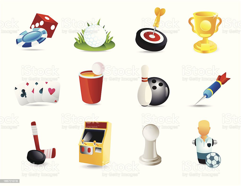 Game Icons royalty-free stock vector art