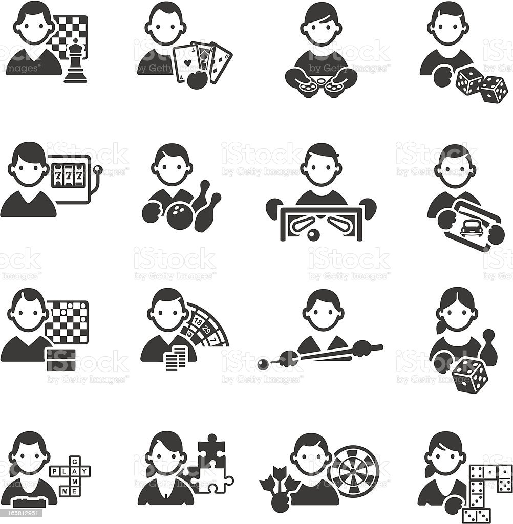 Game icons vector art illustration