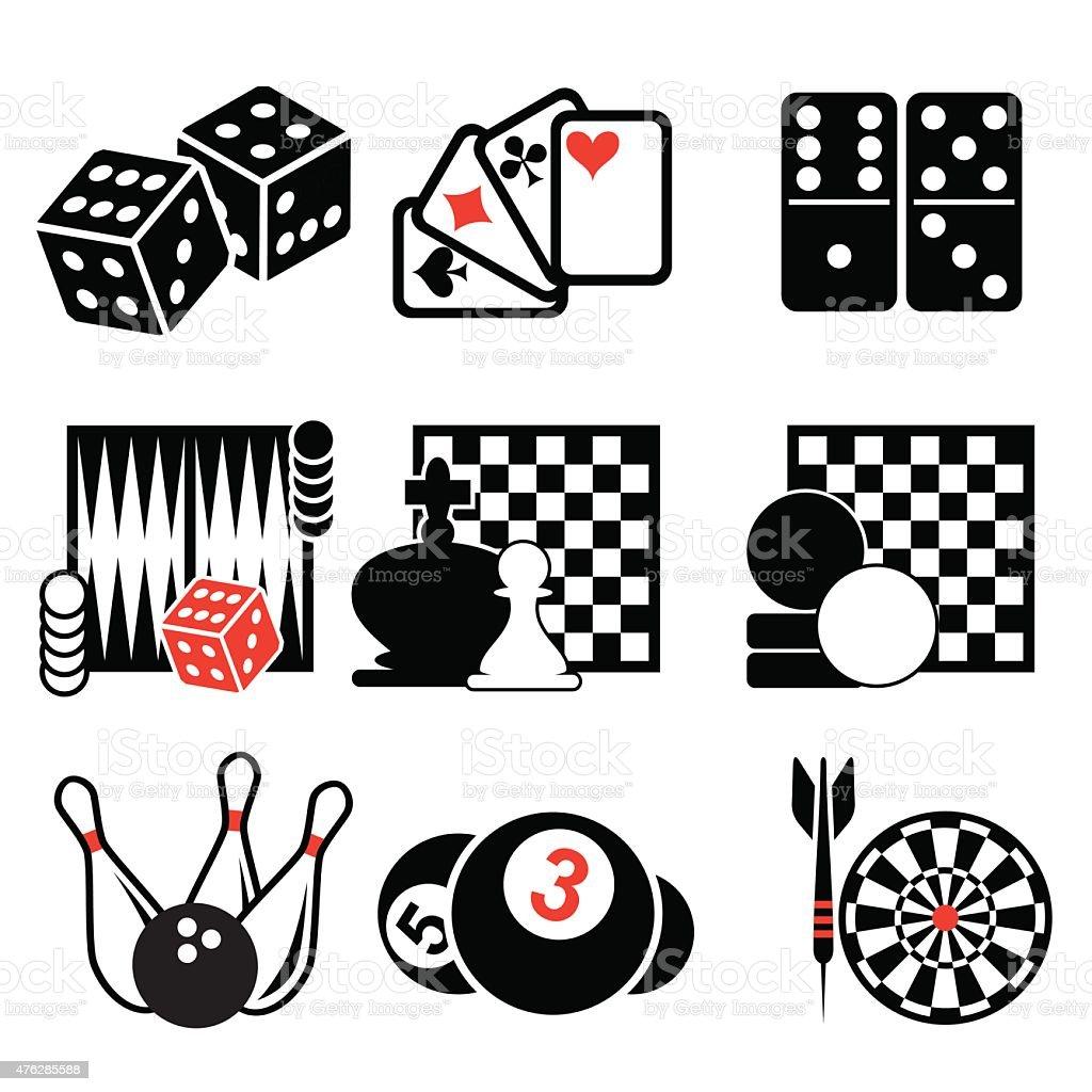 Iconos de juegos - ilustración de arte vectorial