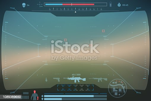 game interface template in vector