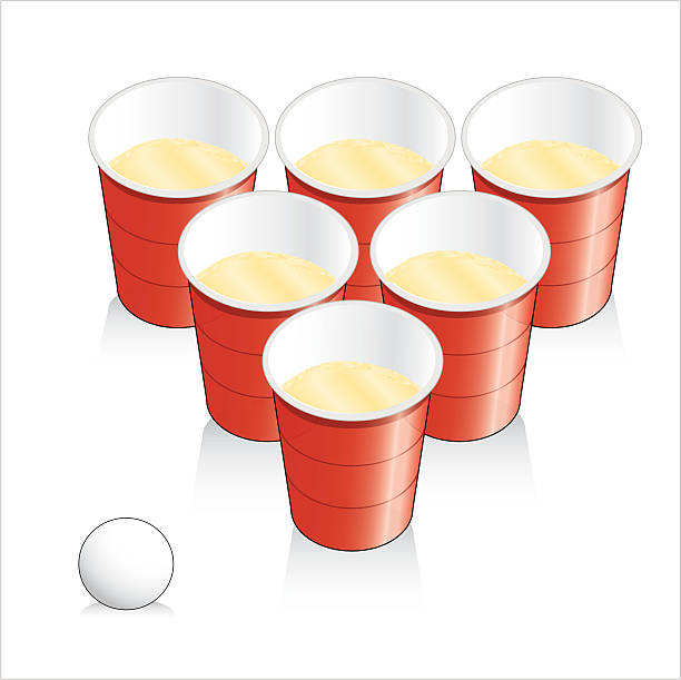 stockillustraties, clipart, cartoons en iconen met game of beer pong - beirut