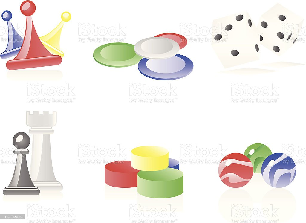 Game Pieces royalty-free stock vector art