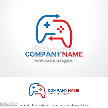 Game Share Symbol Template Design Vector Emblem Design Concept - Game concept template