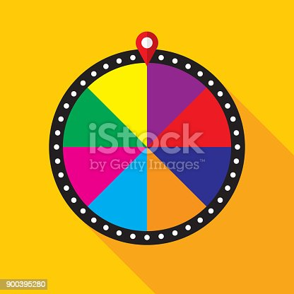 istock Game Show Wheel 900395280