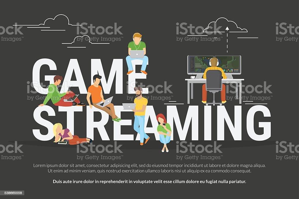 Game streaming concept illustration vector art illustration