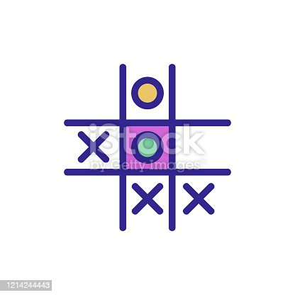 istock game TIC TAC toe icon vector outline illustration 1214244443