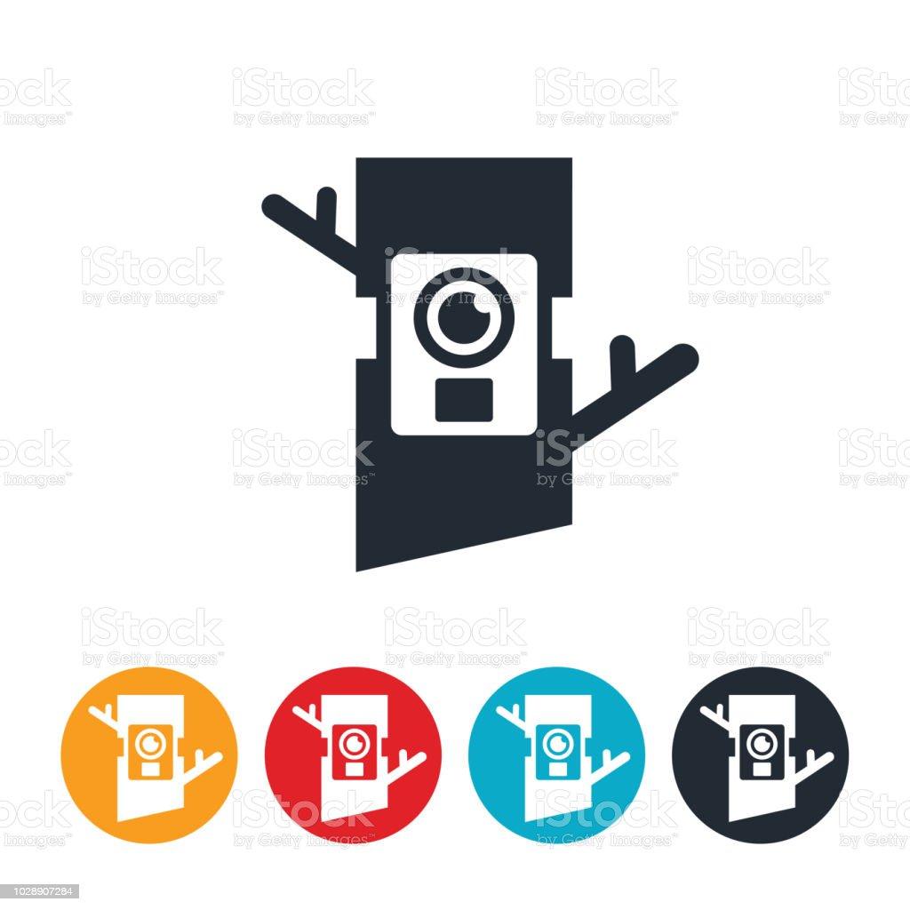 Game Trail Camera Icon vector art illustration