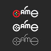 Game Typography Series Vector EPS File.
