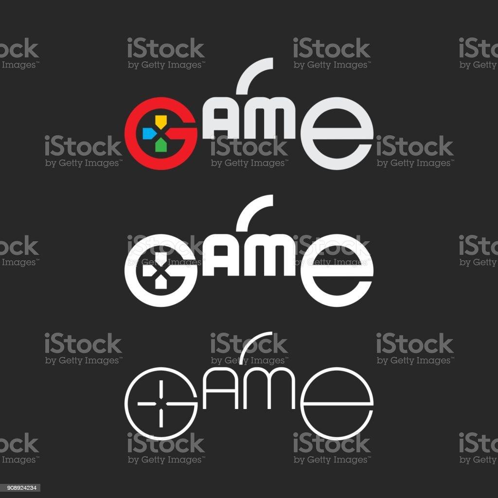 Game - Typography Series vector art illustration