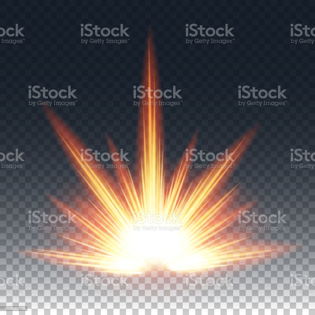 Game Visual Effects And Glowing Sparkle Stock Illustration