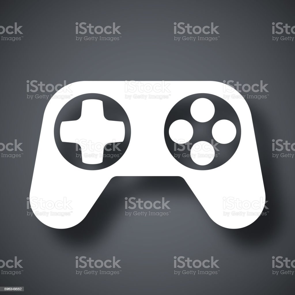 Gamepad icon, vector royalty-free gamepad icon vector stock vector art & more images of arts culture and entertainment