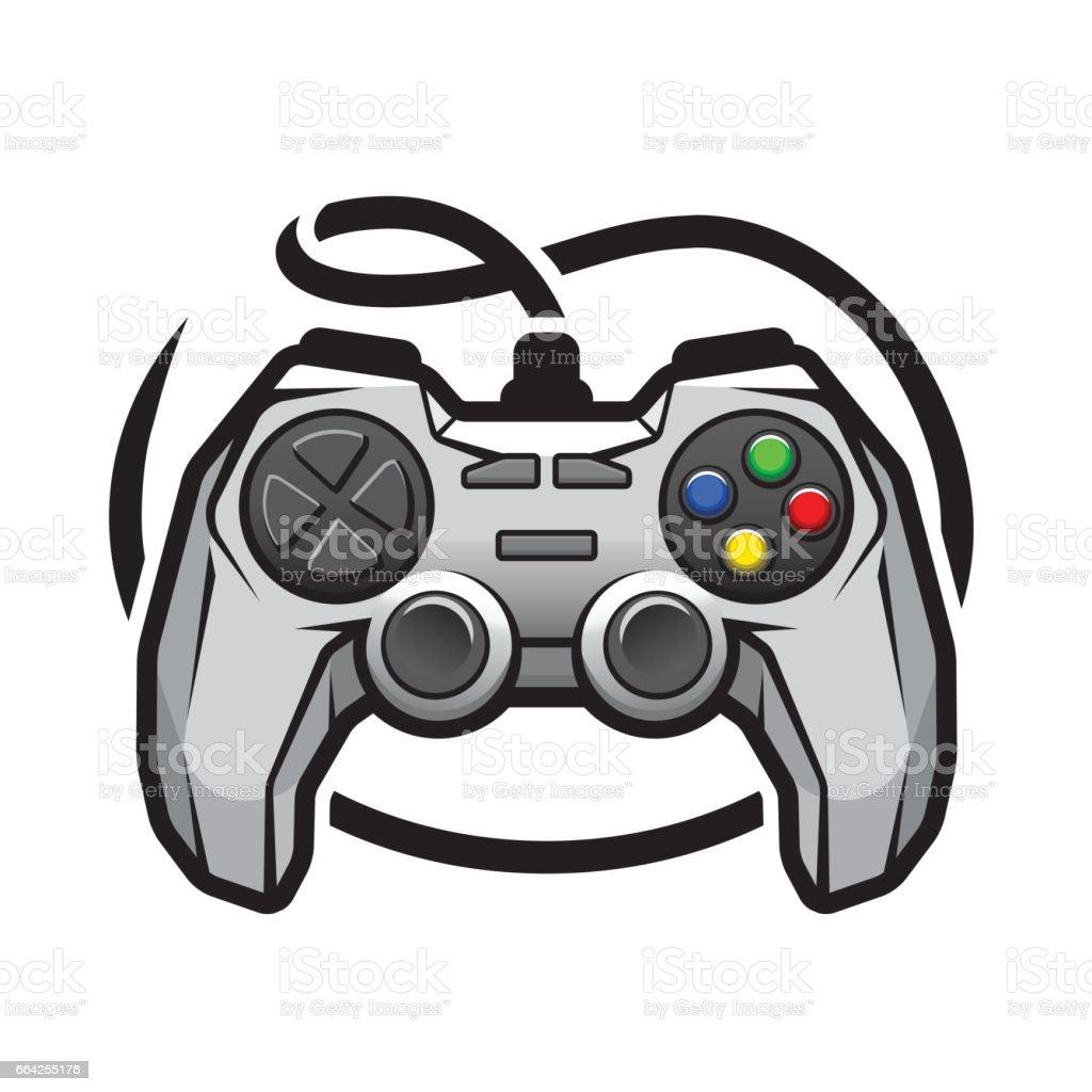 Gamepad logo video game symbol stock vector art more images of gamepad logo video game symbol royalty free gamepad logo video game symbol stock vector buycottarizona