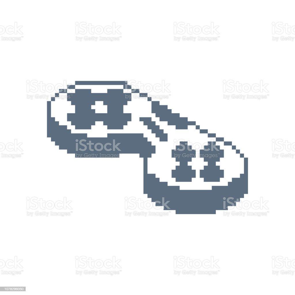 ゲームパッド ピクセル アート アイコンです。ジョイスティック 8 ビット。ビデオ ゲーム古い学校コントロール レバー ベクターアートイラスト