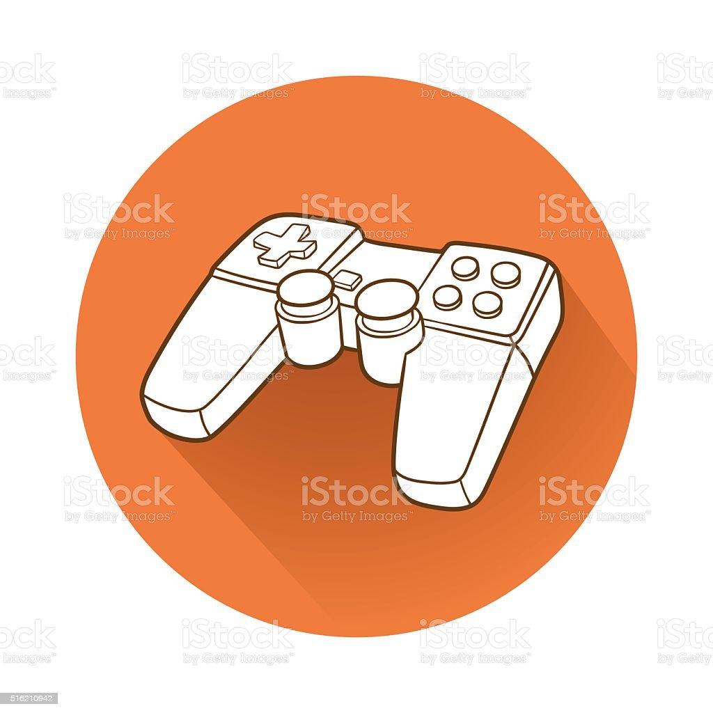 Gamepad symbol vector art illustration