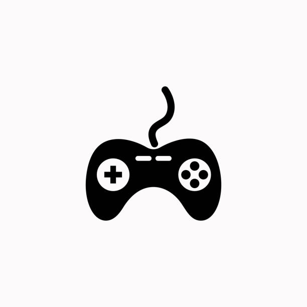 Gamepad vector icon. vector  icon. Gamepad vector icon. vector  icon. game controller stock illustrations