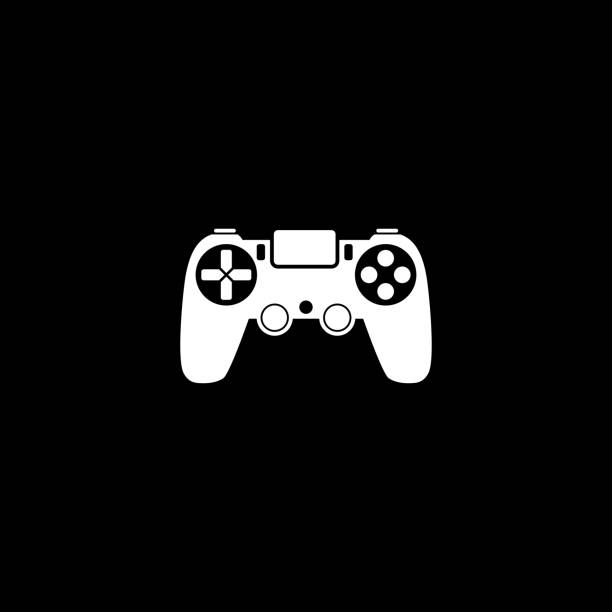 PS4 Gamepad vector icon PS4 Gamepad vector icon game controller stock illustrations