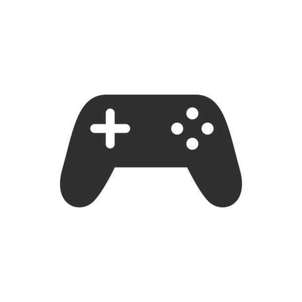 Gamepad Gamepad. monochrome icon video game stock illustrations