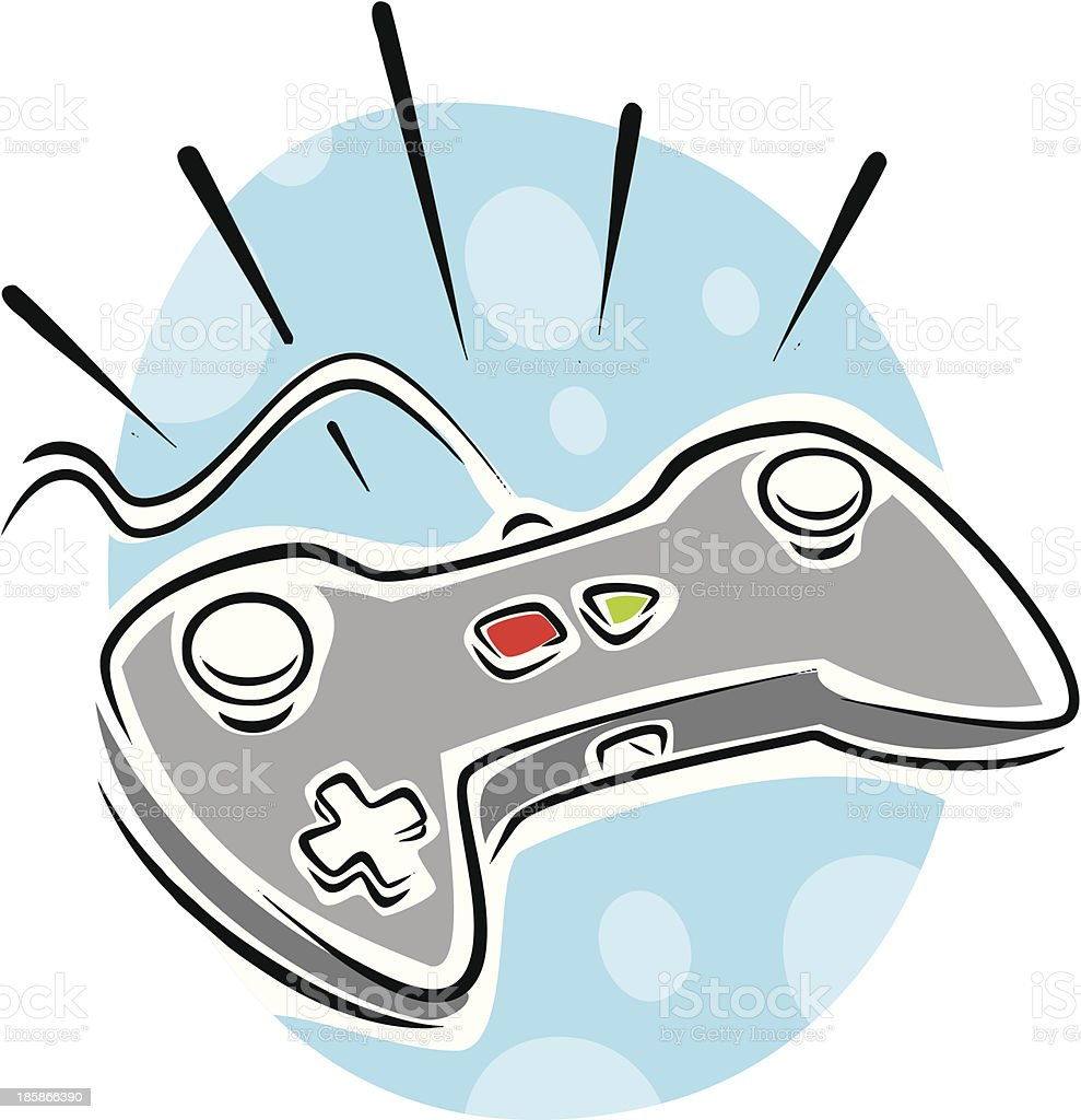 Gamepad vector art illustration