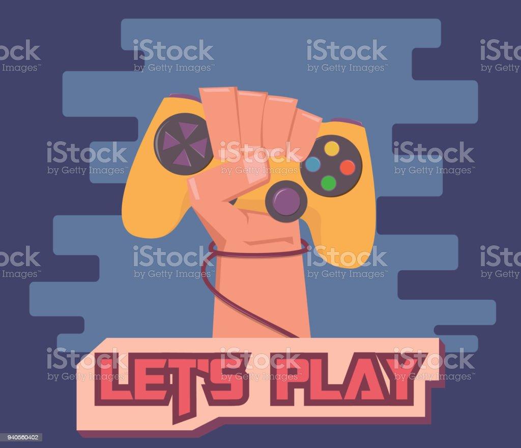Gamer cartoon illustration vector art illustration