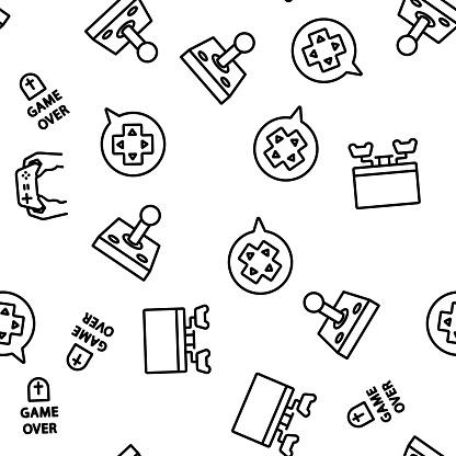 Gamer Device Vector Seamless Pattern