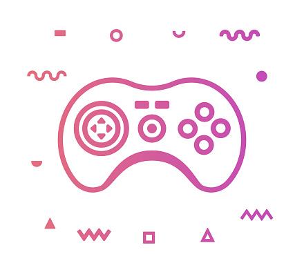 Gamer Line Style Icon Design