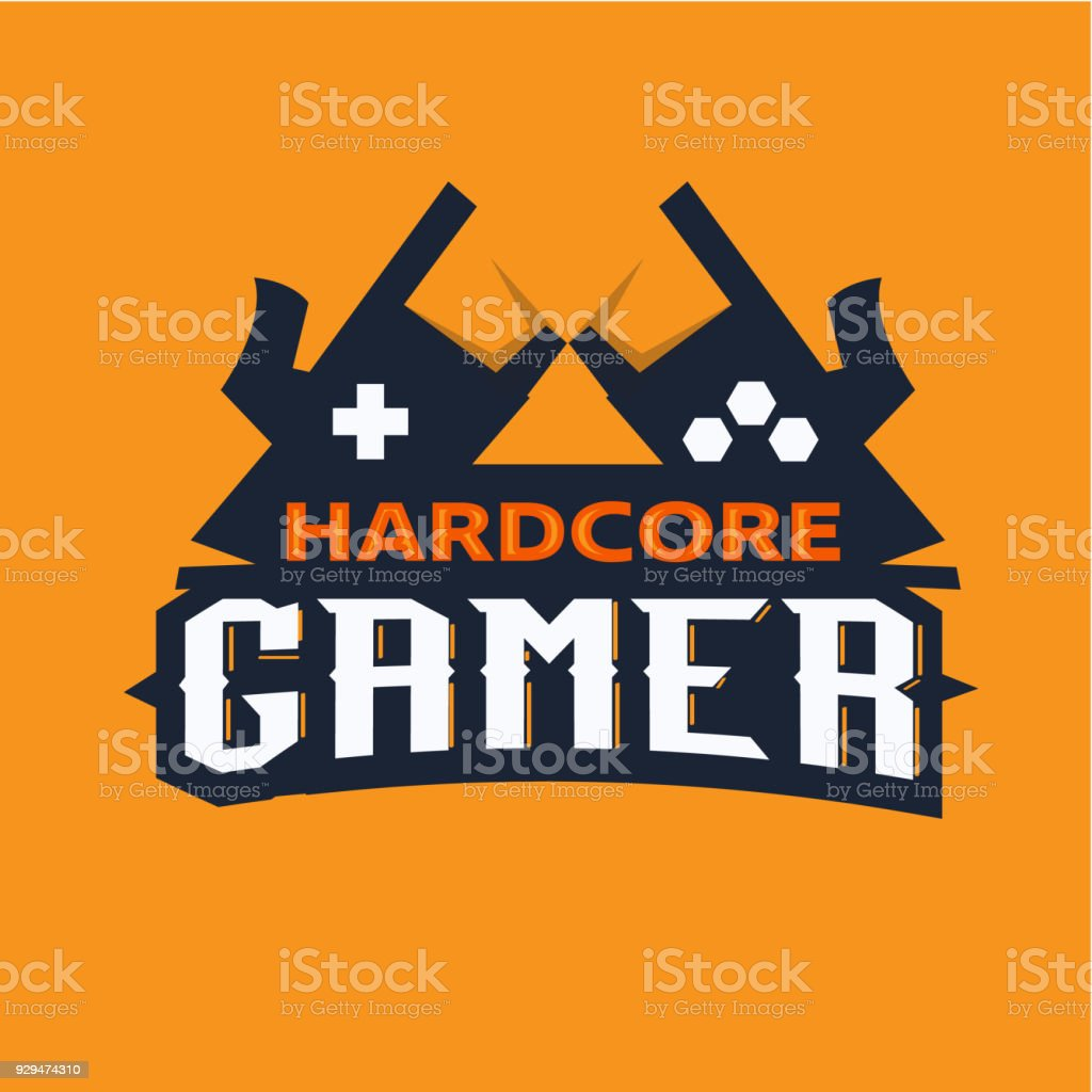 Gamer logo, hardcore gamer concept - vector vector art illustration