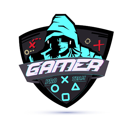 Gamer logo or hacker concept