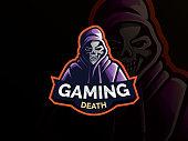 Gamer mascot logo design vector. Gamer illustration for sport team. skull wearing hoodie jacket vector illustration. Modern illustration concept style for badge