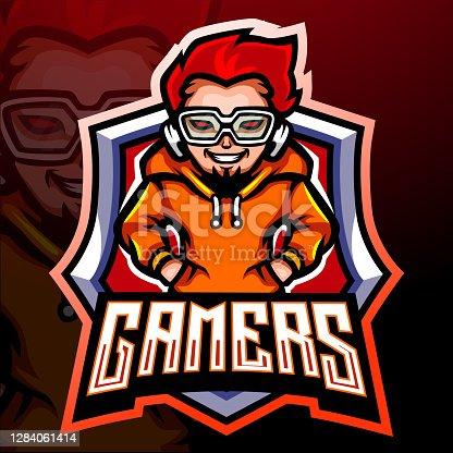 Gamer mascot.