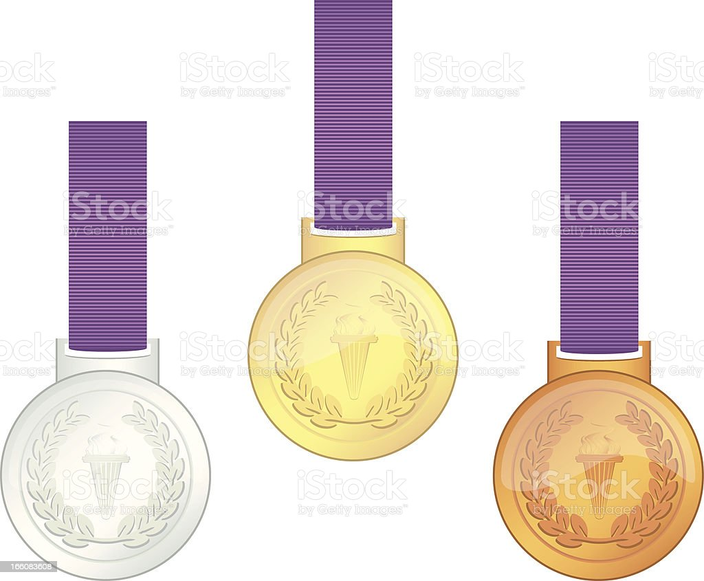UK Olympic Games Champions' Medals royalty-free stock vector art