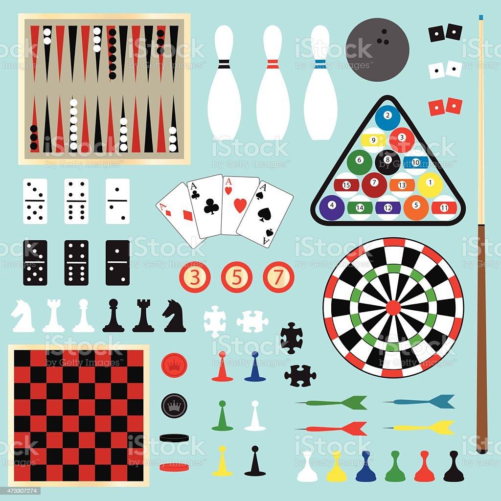 Juegos de Clipart - ilustración de arte vectorial