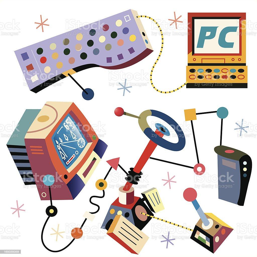 Games Hardware vector art illustration