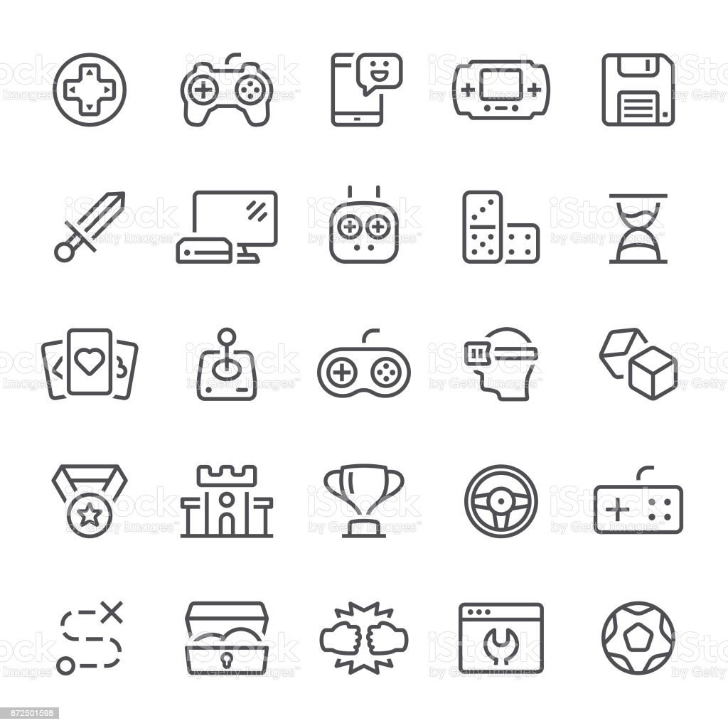 Games Icons vector art illustration