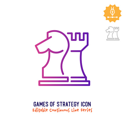 Games of Strategy Continuous Line Editable Stroke Line