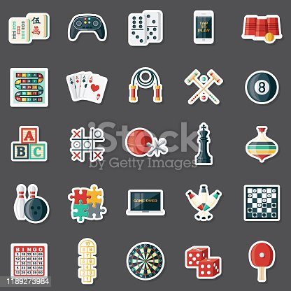 istock Games Sticker Set 1189273984