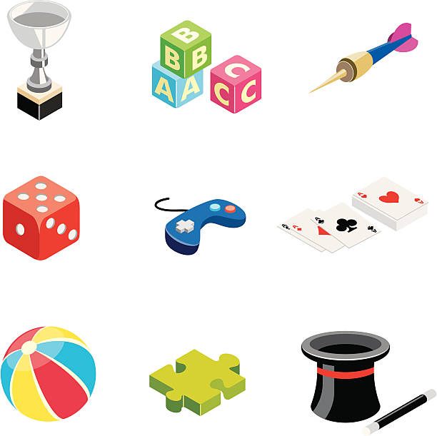 Games & Toys | ISO collection vector art illustration