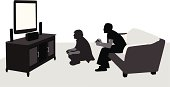 TV games Vector Silhouette