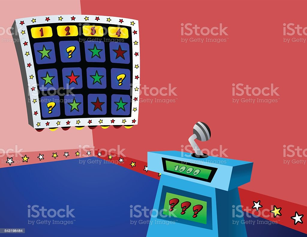 Gameshow_Set vector art illustration