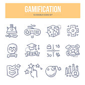 Gamification Doodle Icons
